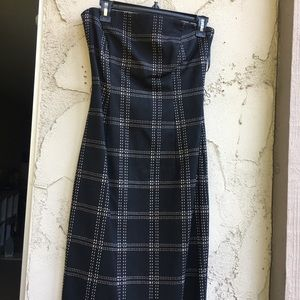 Milly Strapless Wool + Cashmere Dress